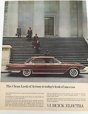 1961 BUICK Vintage Print Ad  ELECTRA LOOK OF SUCCESS