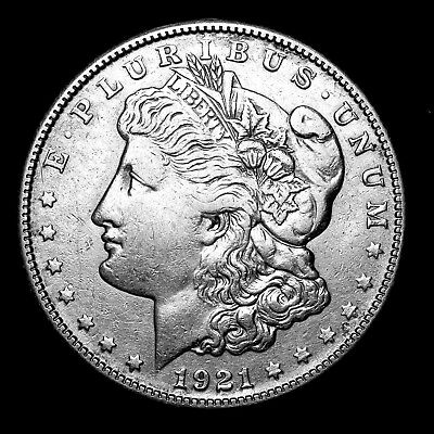 1921 S ~**ABOUT UNCIRCULATED AU**~ Silver Morgan Dollar Rare US Old Coin! #L97