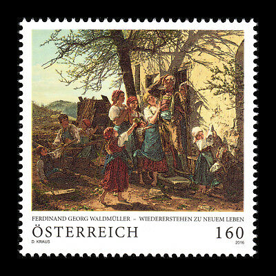 """Austria 2016 - Paintings """"Revival to New Life by Ferdinand Georg""""  - Sc 2623 MNH"""