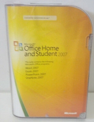 MICROSOFT OFFICE HOME & STUDENT 2007--Open Box--Excellent Condition!