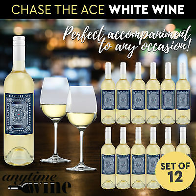 12x Bottles Semillon Sauvignon Blanc Chase the Ace 2016 White Wine 750ml