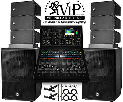 6x RCF HDL 6-A Line Array + MIDAS M32R + 2x Yorkville ES18P Subwoofers + FLYBARS