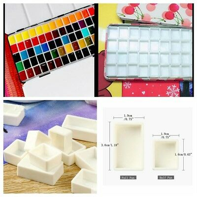 10 pcs Water Colour Artist Empty Pan Full or Half Pans For Watercolour Painting
