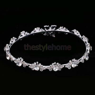 MagiDeal Bridal Crystal Flower Tiara Crown Headdress Headband Hair Accessory