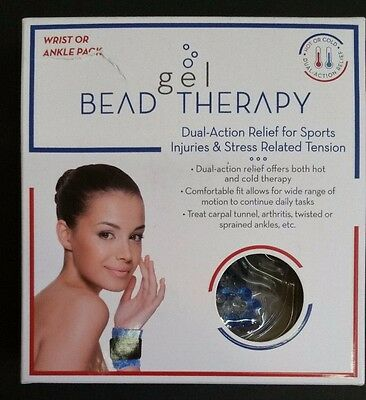 L@@K~~Gel Bead Therapy Sports Injury Hot or Cold Ankle/Wrist Wrap!!!