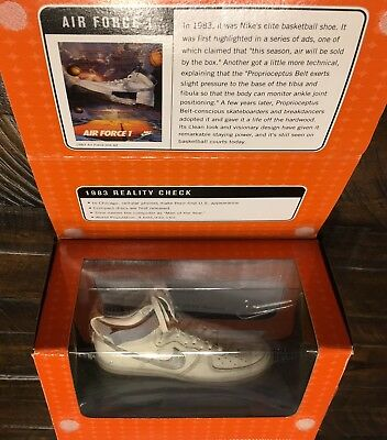 Nike Classics Air Force 1 White Silver Basketball Shoe Figure Bowen 42/6000 NIB