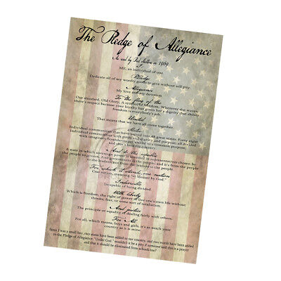 The Pledge of Allegiance As Read By Red Skelton 1968 Poster - 2 Sizes Available