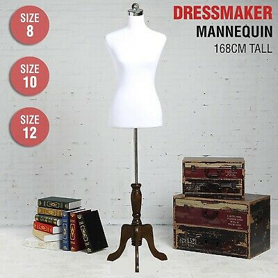 Female Mannequin Dressmaker Model 168cm Dummy Display Torso Tailor Fashion White