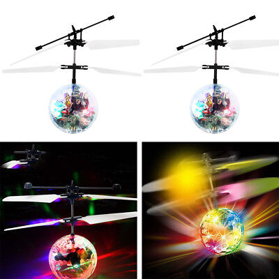 Hot Kid Child Flying RC Ball Led Flashing Light Ball Aircraft Helicopter Toys AU