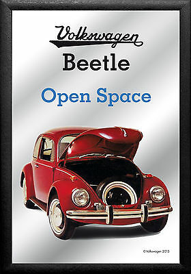 VW Volkswagen Beetle Space Nostalgia Bar Mirror 8 11/16X12 5/8in