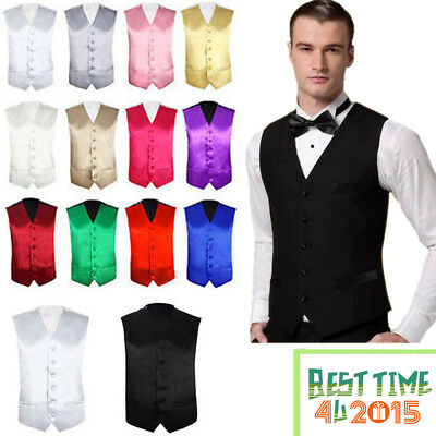"Mens Formal Waistcoat Size 36"" -  48"" Chest Available S M L XL 2XL 3XL 4XL"