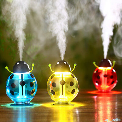Home Car USB Beetle Humidifier Air Moist Diffuser Purifier Atomizer Portable tb