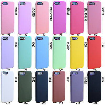 For Apple iPhone 7&7 Plus Candy TPU Silicone Rubber Soft Case Cover Shockproof