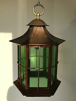Stunning Large Arts and Crafts Copper Lantern