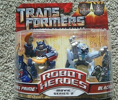 Transformers Revenge Of The Fallen- Movie Series 2 Optimus Prime& Blackout