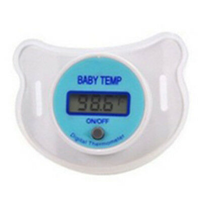Infants LED Pacifier Thermometer Baby Health Safety Temperature Monitor Kid K9P3