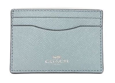 NWT Coach Credit Card Case Holder Leather Glitter F15565 $65