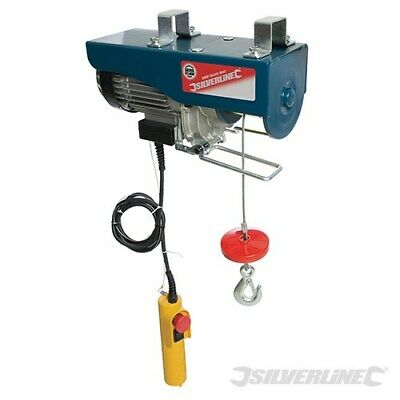 Electric Hoist Winch Lift 500Kg Engine Workshop Garage Gantry Silverline 442463