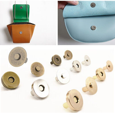 5Pcs Magnetic Clasp Purse Snaps Closures Press Stud 18mm Round Sewing Button Bag