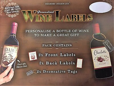 Wine Labels/Tags ~ Personalised ~ CHERYL ~ Unique Novelty Gift