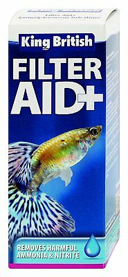 King British Filter Aid Safe Water Fish Tank Aquarium Nitrate Ammonia Treatment
