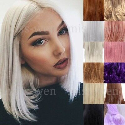 "13"" Synthetic Hair Lace Front Wig Heat Resistant Bob Straight Short Wig"