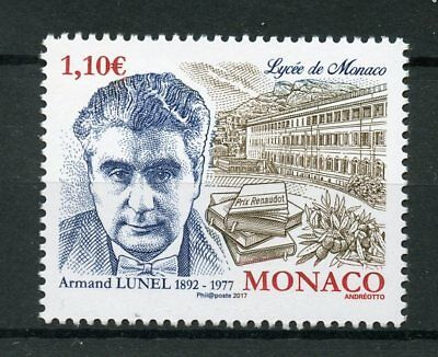 Monaco 2017 MNH Armand Lunel Monaco Lyceum 1v Set Writers Literature Stamps