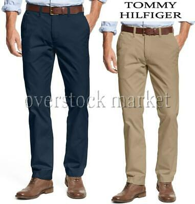 Mens Tommy Hilfiger Tommy Tailored Fit Flat Front Chino Pant Khaki Pants Variety