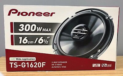 """Pioneer TS-G1620F 600W Max 80W RMS 6.5"""" G-Series 2-Way Coaxial Car Speakers NEW"""