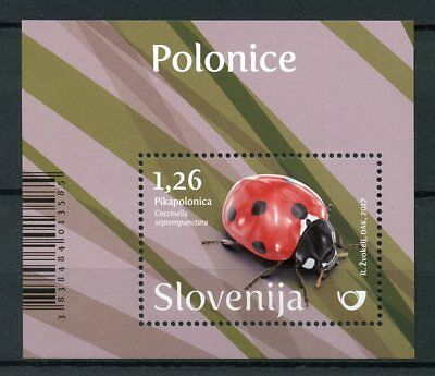 Slovenia 2017 MNH Ladybirds 1v M/S Ladybird Beetles Insects Stamps