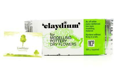 Newclay Claydium 500g-1kg Pack - Air Drying Reinforced Modelling Clay - White
