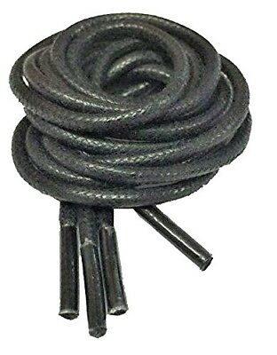 Black Waxed Laces 90cm x 2.5mm Round,Brogue Cord Boots Shoes Trainers