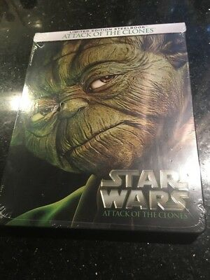 Star Wars Episode II: Attack of the Clones (Blu-ray) Steelbook Limited Ed New