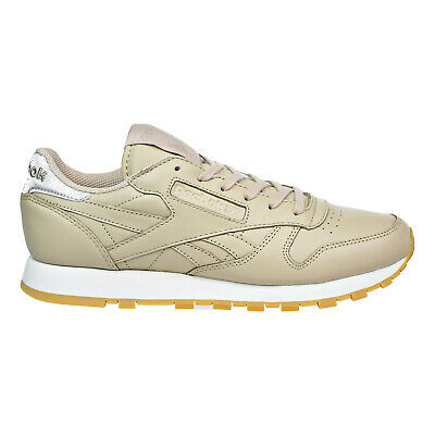 5efb81ac15c42 Reebok Classic Leather Met Diamond Womens Shoes Oat Meal Chalk Gum bd4424