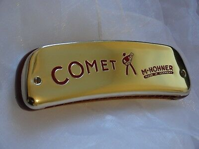 Harmonica HOHNER COMET 20 HOLES OCTAVE HARMONICA HARP GOLD ANODIZED COVERS