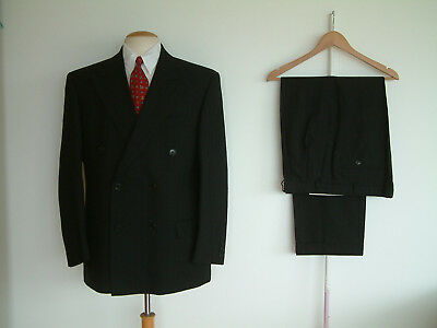 "1940's STYLE SUIT..GOODWOOD..TWIN PLEATS..PTU's..HIGH WAISTED..40"" x 34""..WW2"
