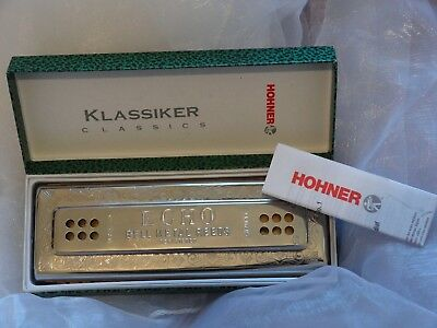 Harmonica HOHNER TREMOLO 55/80 ECHO DOUBLE DROIT 80 HOLES C AND G