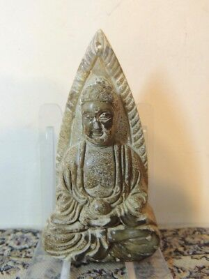Antique Chinese ,Jade or jadeite Buddah ,Stone figure statuette,Qing Dynasty