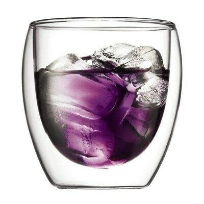 New Bodum Pavina Double Wall Glass 250ml Set of 2