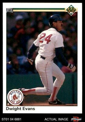 1990 Upper Deck #112 Dwight Evans Red Sox NM/MT