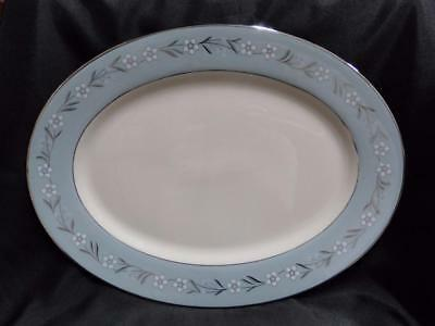 "Franciscan Del Rio, Blue with Platinum (USA): Oval Platter 15 1/2"" x 11 3/4"""