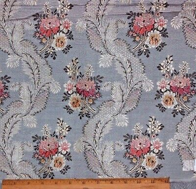 "French Antique 19thC Blue Silk Brocade Fabric in 18thC ""Marie Antoinette"" Style"