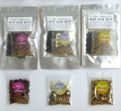 3 x DIY Floral Gin Botanicals Kit - Homemade Christmas or birthday gift present