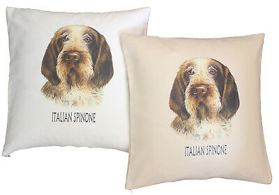 Italian Spinone Breed of Dog H Cotton Cushion Cover - Cream or White - Gift Item
