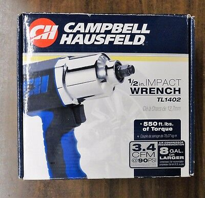 """Campbell Hausfeld TL1402 1/2"""" Impact Wrench - Brand New in the Box TL1402"""