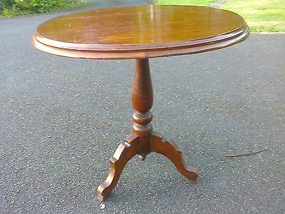 Antique round mahogany breakfast occasional table tripod base, vintage, period