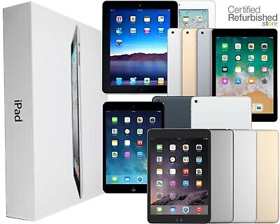 Apple iPad Air,mini,2,3,4 64GB 32GB 16GB Wi-Fi+4G Cellular (1 Year Warranty)