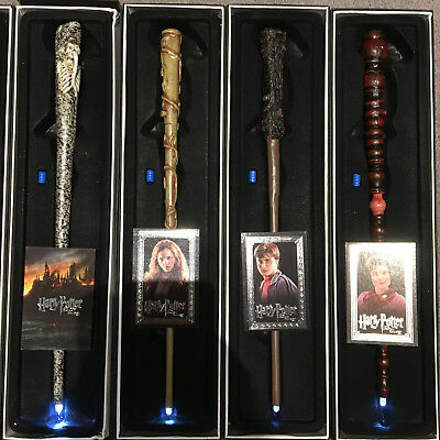 Harry Potter Led Light Up Wand Fancy Cloak Robe Tie Scarf Gryffindor Xmas Gift
