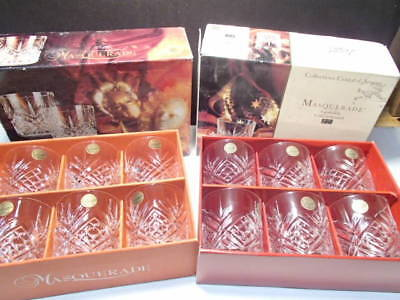12 Cristal d'Arques Masquerade Dbl Old Fashioned / Rocks ~ nu old inventory ~