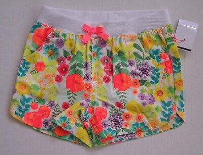 Baby//Toddler Girl 3T 12M NEW Cherokee Bright Floral Shorts w//Pockets 18M